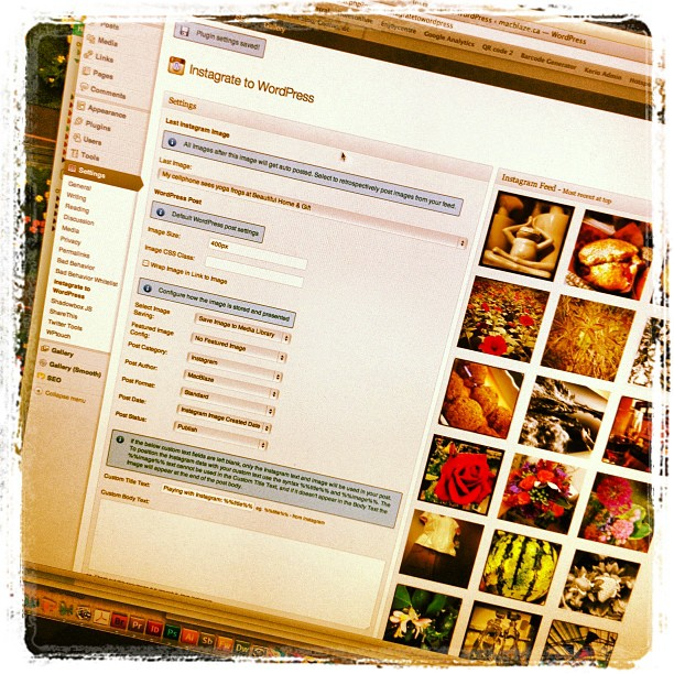 Playing with Instagram: WordPressing my Instagram