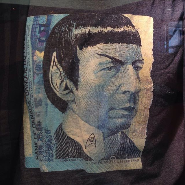 Not normally my thing, but this tshirt is awesome! #spock