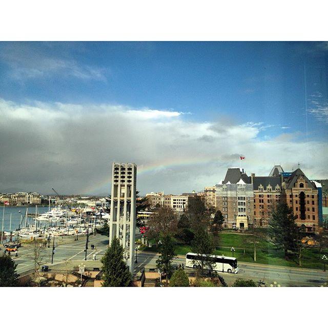 Rainbow over #Victoria