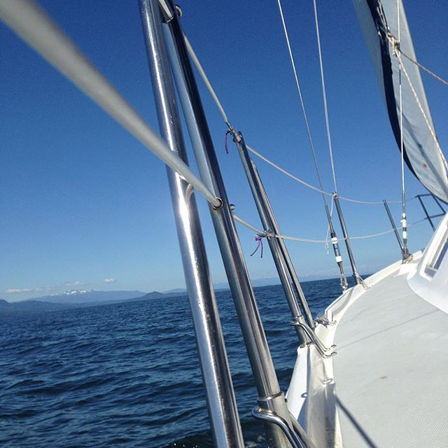 Gentle winds blowing us to the Sunshine Coast across the Strait of Georgia