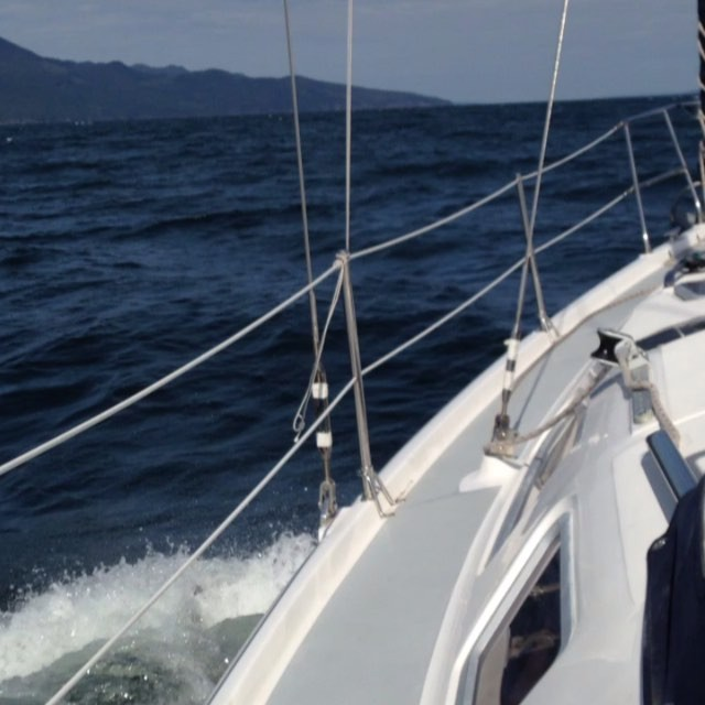 Wheeeeee! Heading into the wind in Malaspina Strait!