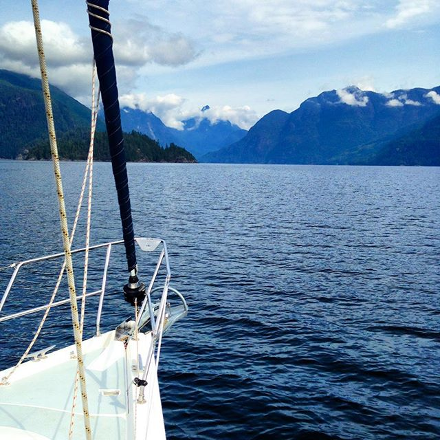 Heading up Prince of Wales Reach to legendary Princess Louisa Inlet #beautifulbc