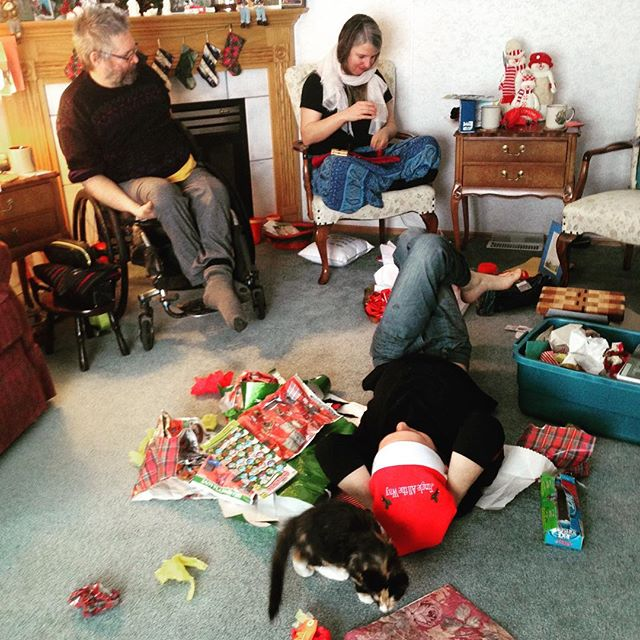 Xmas morning carnage. Have a joyous day one and all!