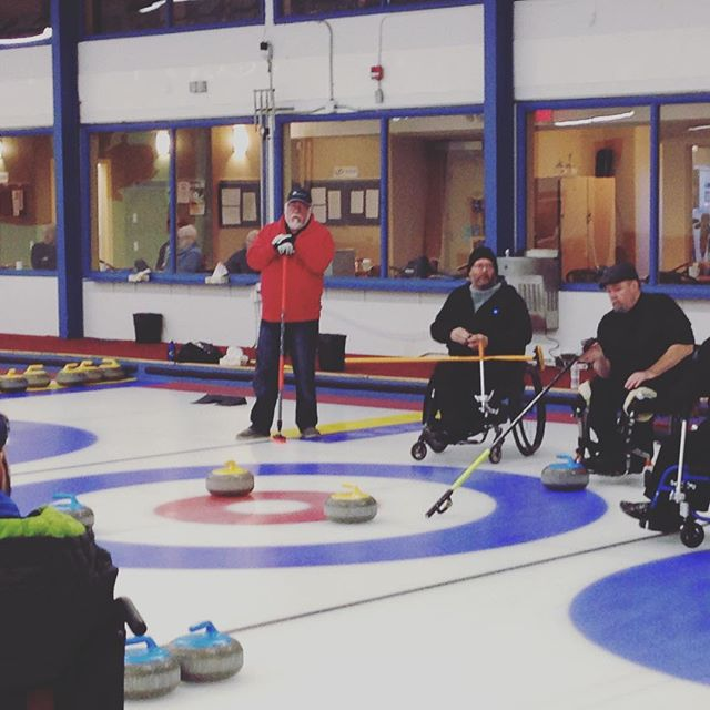 Semifinals wheelchair curling tourney in #yeg