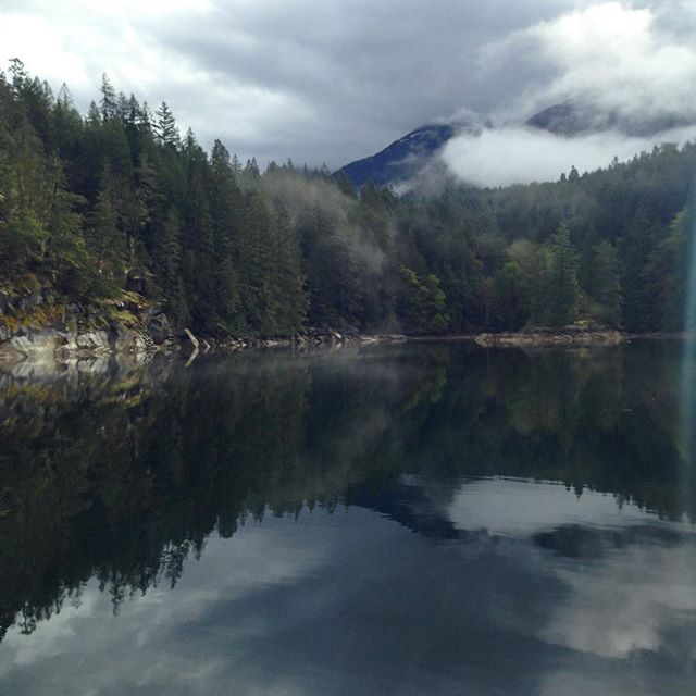 The sun is struggling to come out. Looks like beautiful day ahead. #springcruising #DesolationSound