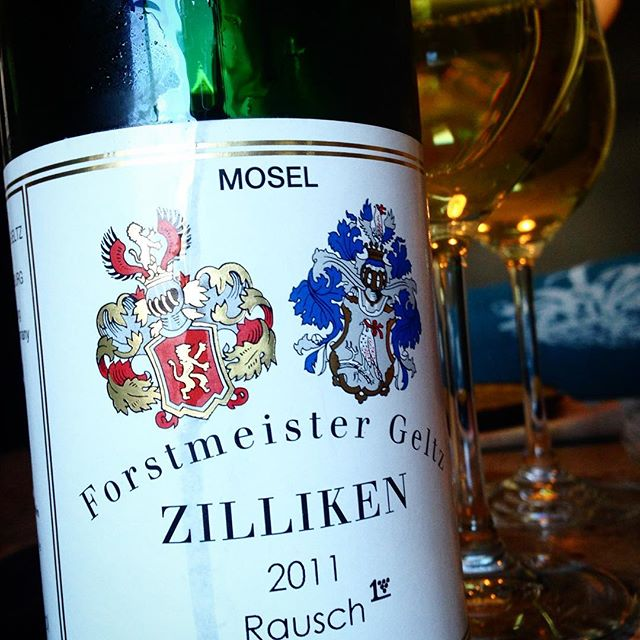 It's time. Our last bottle of Riesling from or trip to the Mosel Valley. Time to go back?