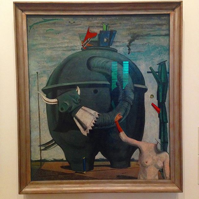 This one made my day. Celebes, 1921, Max Ernst. Enjoying a day at the Tate.
