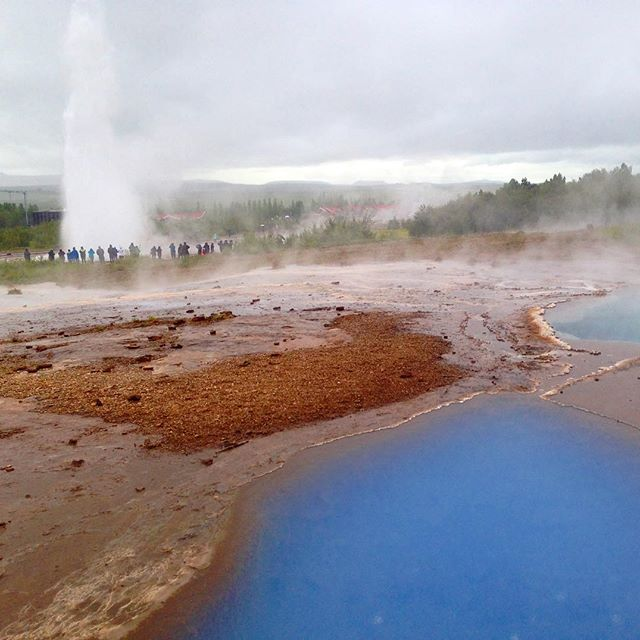 Geysers and hot pools. #Iceland is pretty awesome.