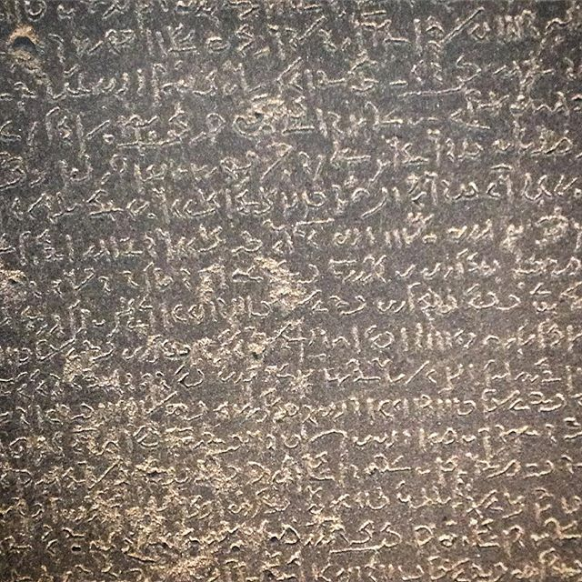 The Rosetta Stone...I can't read a bit :-(