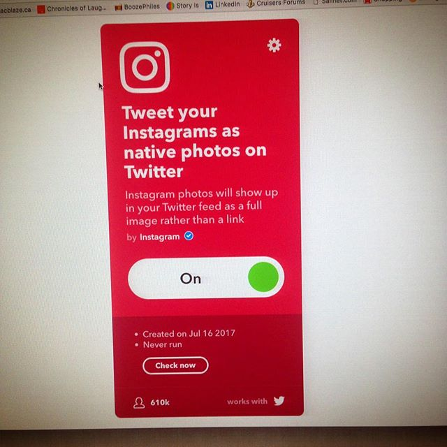 Now I'm just screwing with #ifttt and auto posting images to twitter