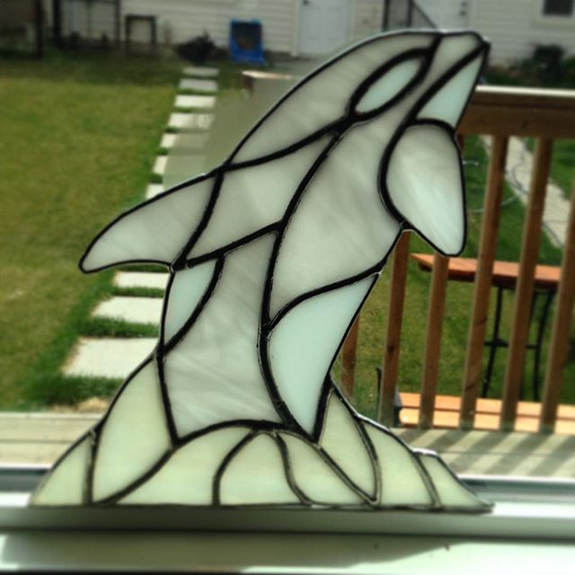 Almost what I envisioned ... #stainedglass #orca