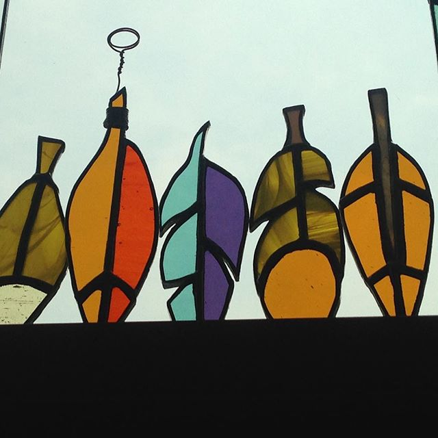 This week? Mini feathers! Not sure which style I like most... #stainedglass