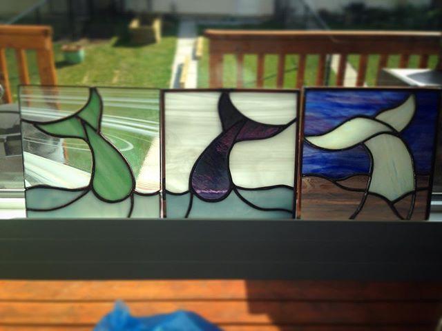 I think I have a thing for whales' butts! #stainedglass