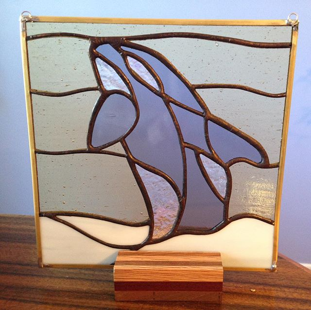 There's a new whale in town... the latest #stainedglass practice piece