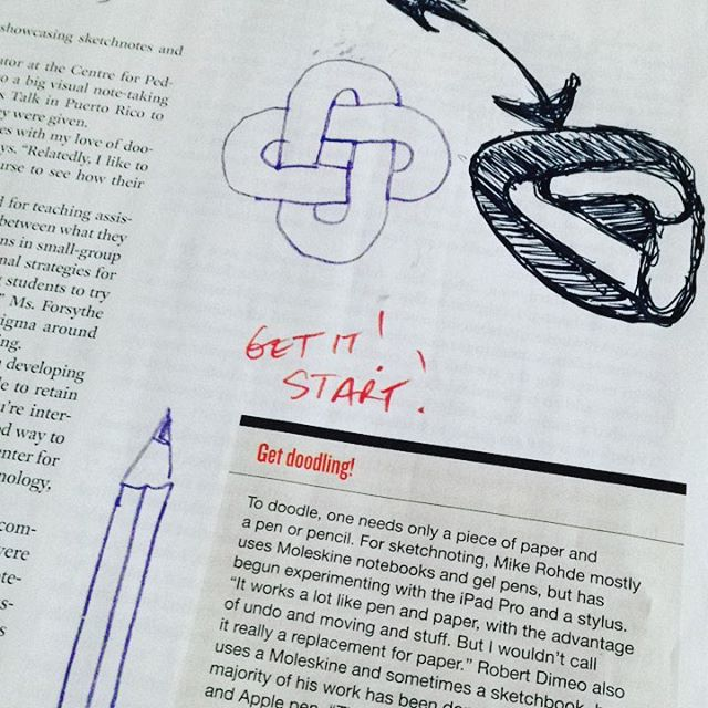 Is it ironic that I have been doodling on an article about the creative potential of doodling? #metadoodle