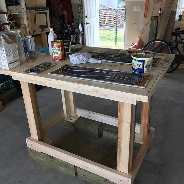 This week: build a new work bench so you can finally get some mudding done. Check!