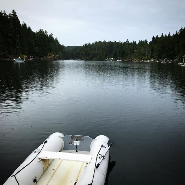 Grey day in Secret Cove. Anchored in the south arm for the first time since we were here with C and R Shack.