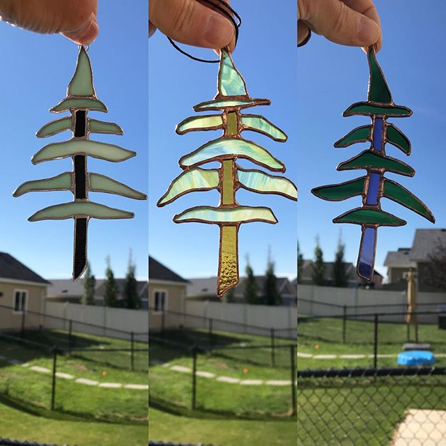 I don't know why I make these. They are a finicky pain that aren't very solid. - -#butilikethem #trees #stainedglass