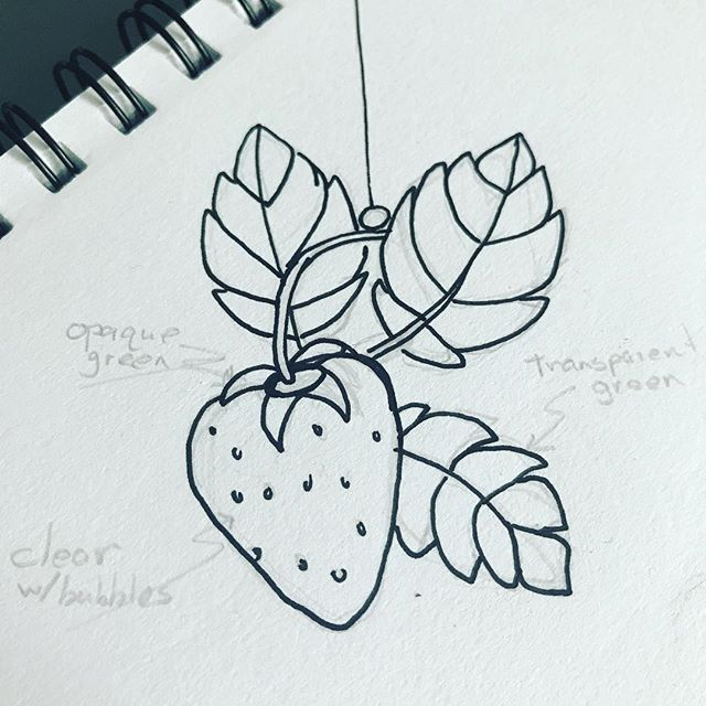 A strawberry suncatcher? #drawingaugust