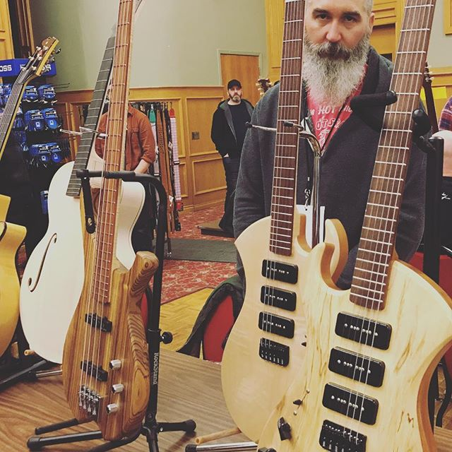 Checking out the Edmonton Guitar Show and the talented @brockstoyko of Stoyko Guitars