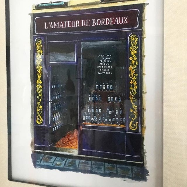 #day21 On our first trip to Paris in 2008 I picked this up at a street market to commemorate our first bottle of French wine actually consumed in France. Unfortunately it was a little worse for wear by the time I got it back home, but it hangs on the wall to celebrate that first taste of France. Bordeaux acrylic — Unknown street artist #31daysofart #art #artists #artwork #beautiful #paris #france #painting #streetart