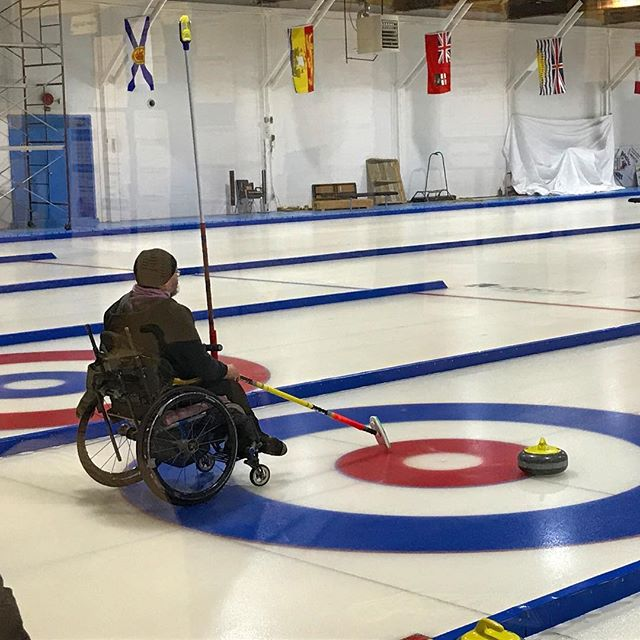 My bro skipping in the Alberta Wheelchair Provincial Curling Championships