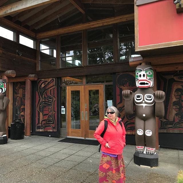 About to check out the U'mista Cultural Centre in Alert Bay. Stunning returned Kwakwaka'wakw artifacts