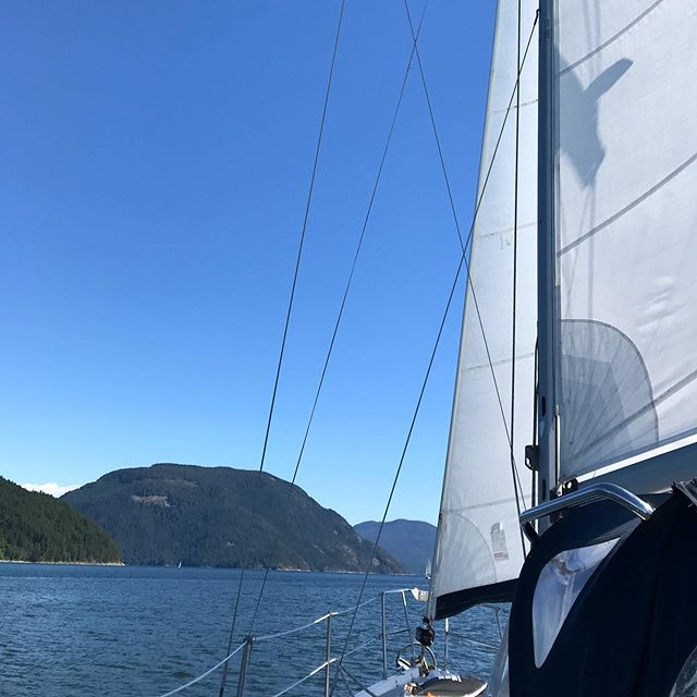 Running 3rd (1st in our division) in our first ever race. Flotilla sailing with the Calgary Yacht Club! #desolationsound